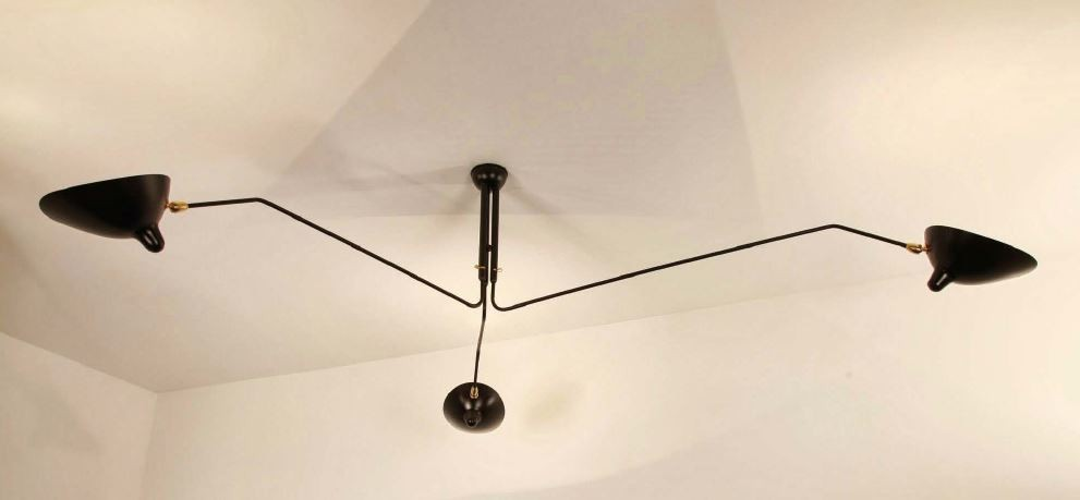 serge mouille ceiling light